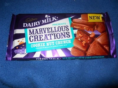 dairy milk, cookie crunch, marvellous creations