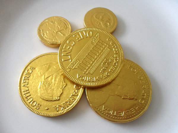 milk chocolate coins,confectionery,candy  - Milk Chocolate Coins