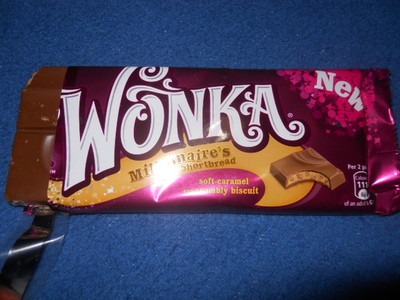 wonka, shortbread, chocolate bar, nestle